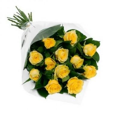 Букет з 15 троянд 70 см