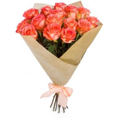 Букет з 15 троянд 1 м.
