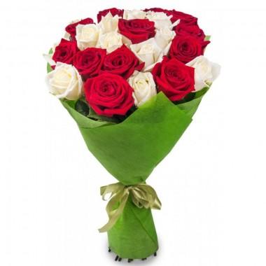 Букет з 21 троянд 60 см