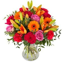 Збірний букет з 5 сортів квітів 60 см