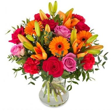 Збірний букет з 5 сортів квітів