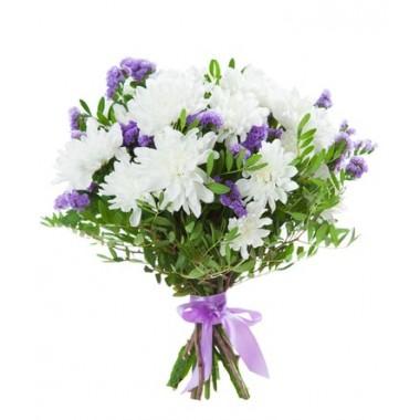 Букет з 3х сортів квітів