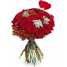 Букет: 21 троянда з доставкою