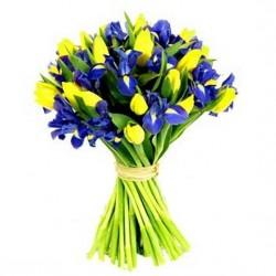 Букет з тюльпанів та ірисів