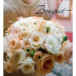 Весільний букет нареченої з троянди і анемони № 11