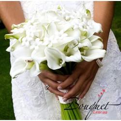 Весільний букет нареченої з білих калл № 12