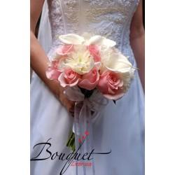 Весільний букет нареченої з трояндами № 16