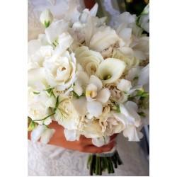 Весільний букет нареченої з калл № 17