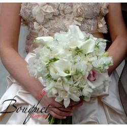 Весільний букет нареченої з калл № 18