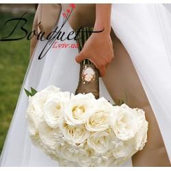 Весільний букет нареченої з троянд № 20