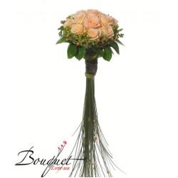 Весільний букет нареченої з трояндами № 23