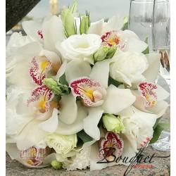 Весільний букет нареченої з орхідей № 24