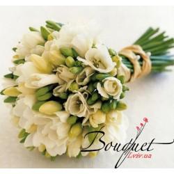 Весільний букет нареченої з фрезій № 26