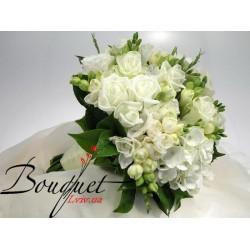 Весільний букет нареченої з трояндами № 27