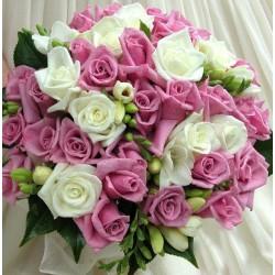 Весільний букет нареченої з трояндами № 28