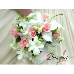 Весільний букет нареченої з ліліями № 29