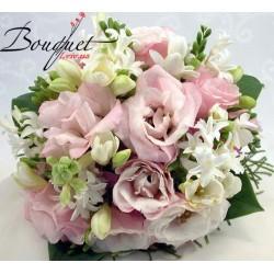 Весільний букет нареченої з трояндами № 30