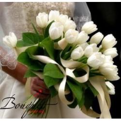 Весільний букет нареченої з тюльпанами № 31