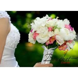 Весільний букет нареченої з еустомами № 33