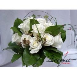 Весільний букет нареченої з трояндами № 34