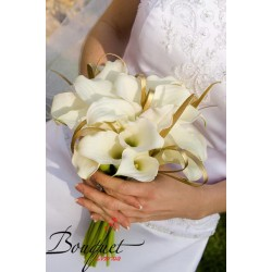 Весільний букет нареченої з калами № 35