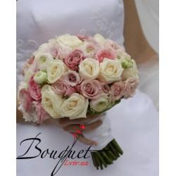 Весільний букет нареченої з трояндами № 37