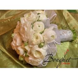 Весільний букет нареченої з трояндами № 38