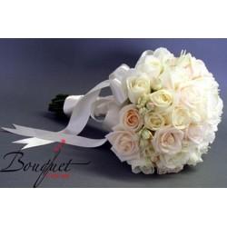 Весільний букет нареченої з троянд і фрезій № 4