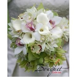 Весільний букет нареченої з орхідей № 5
