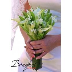 Весільний букет нареченої з калл та конвалій № 6