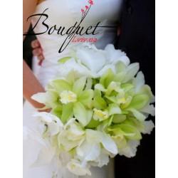 Весільний букет нареченої з орхідей № 8