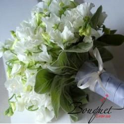 Весільний букет нареченої - білий горошок № 9
